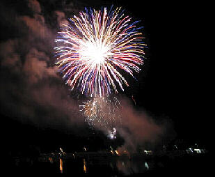 July Fireworks Celebration in Bellows Falls (Photo by Mike Bodi)
